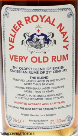 Rum Velier Royal Navy